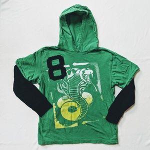 GAP Kids green blue hoodie top